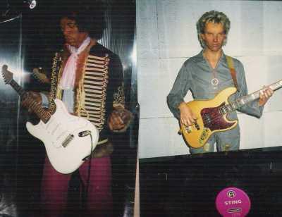 Jimi Hendrix şi Sting la Madame Tussaud's Rock Circus