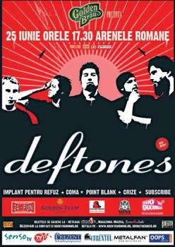 AFISUL oficial Deftones la Bucuresti 2006 ... desi nu este trecuta Godmode, ea a cantat in deschidere