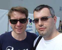 Ionutz la B'estfest, cu Alex Kapranos, solistul trupei Franz Ferdinand