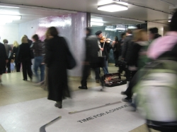 Violinist in subway