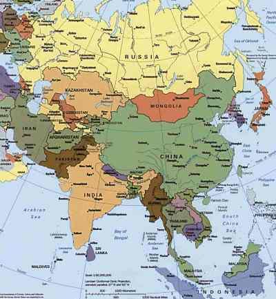 ASIA. Harta