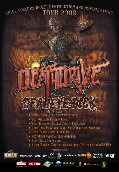 Death Driver la Cluj miercuri 7 octombrie