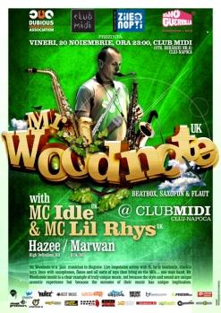 Mr. Woodnote vine la Club Midi Cluj în 20.11