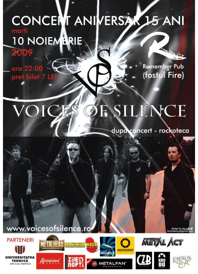 Voices of Silence. 15 ani. sponsor: Agressione