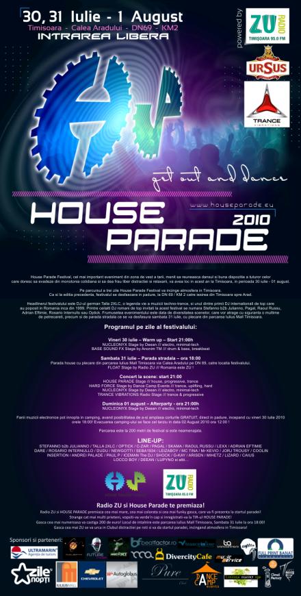 House Parade Festival 2010 intre Timisoara si Arad