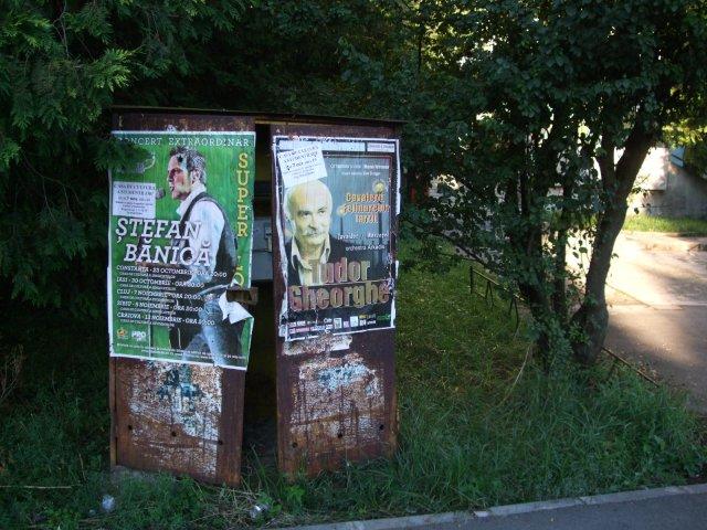 Afisaj agresiv. Tudor Gheorghe cu Stefan Banica Jr. impanzesc orasul (2010)